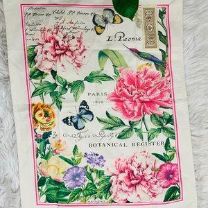 Botanical Register Flag Tapestry  NWOT